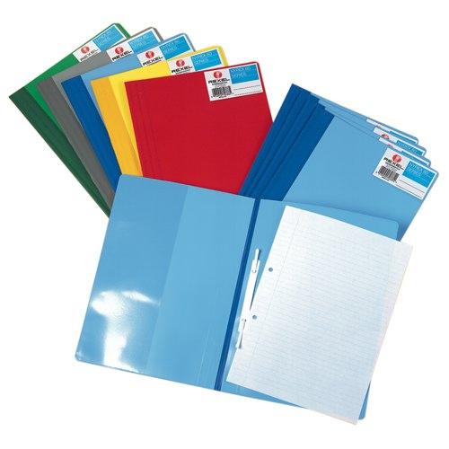 Rexel Nyrex Boardroom File A4 Flat Bar File Pocket On Inside Front Cover Blue Ref 13035BU Pack 5