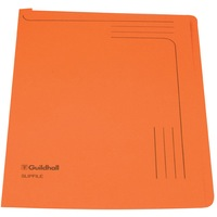 Guildhall Slipfile Open 2 Side Manilla File 12.5x9in Orange Ref GH14607