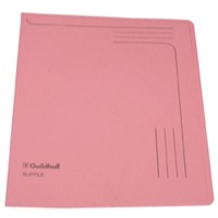 Guildhall Slipfile Open 2 Side Manilla File 12.5x9in Pink Ref GH14604