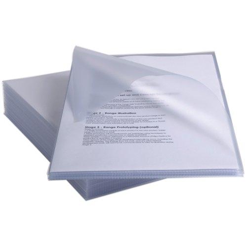 Rexel Anti-Slip Cut Flush Folder A4 150mu Clear Pack 25 Ref 2102211