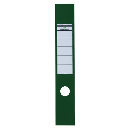 Durable Ordofix Spine Labels Self Adhesive PVC for Lever Arch File Green Pack 10 Ref 8090/05