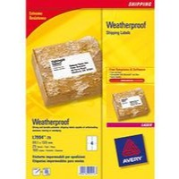 Avery Waterproof Shipping Labels 99.1x139mm Packed 25 Ref L7994-25