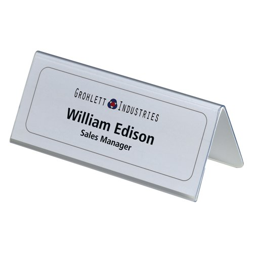 Durable 61x150mm Table Place Name Holders Pack of 25
