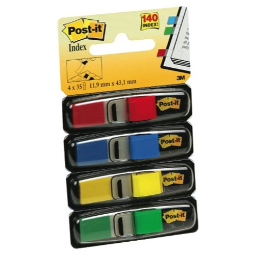 Post-It Assorted Index Flag Dispenser Pack of 140