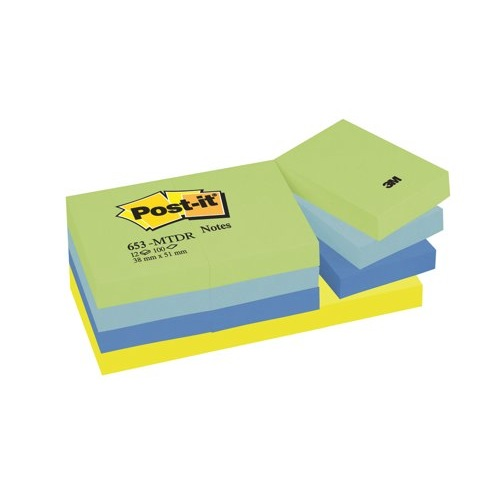 Post-it Colour Notes 38x51mm Dream Colours 653MT Pack 12