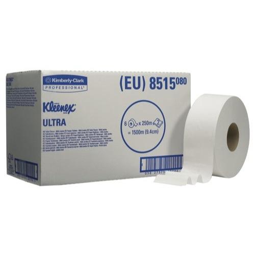 Kleenex Ultra Toilet Tissue Midi Jumbo Roll White Case of 6 Ref 8515