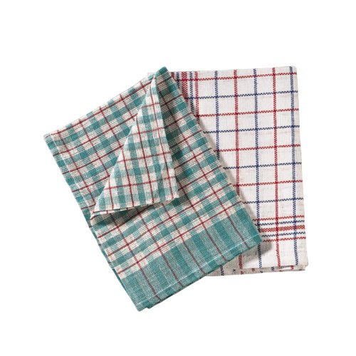 2Work Multi-Colour Tea Towels Pack of 10 REF CPD02228