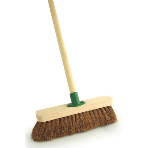 Soft Coco Wooden Broom With Bracket & 1.2m Handle 300mm (Pack of 1) Ref F.01/BKT/C4
