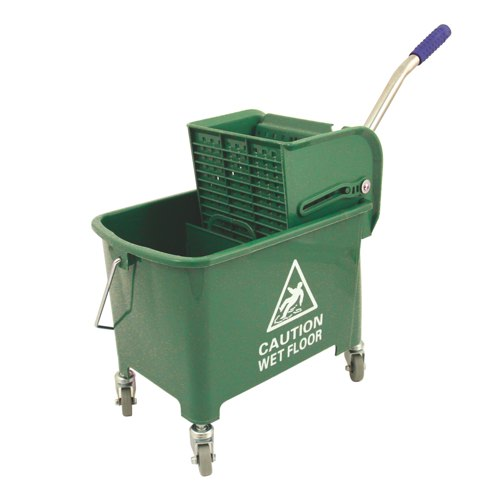 Green 20L Mop Bucket and Wringer REF KS15GN