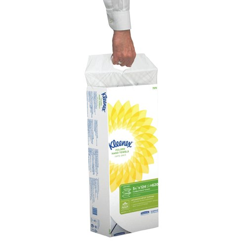 Kleenex White 2 Ply Interfold Hand Towels Pack of 5