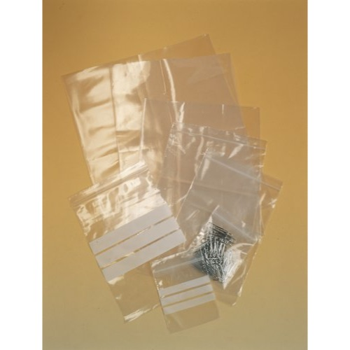 Self Seal Polythene Bag 100x140mm 200 gauge Write On Strip Box 1000 Ref GA-125