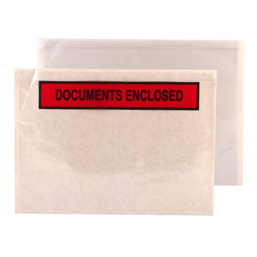 Go Secure Document Enclosed Envelopes Print Documents Enclosed Peel&Seal A4/C4 Packed 500 RefTZ60656