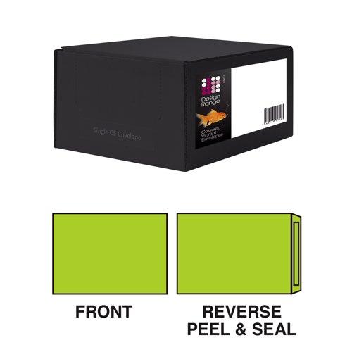 Design Vibrant C4 229x324mm Wallet Peel & Seal Lime Green 120gsm407 Box 250