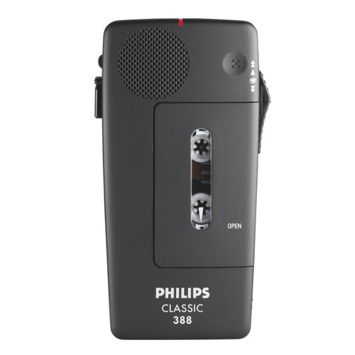 Philips 388 Analogue Pocket Memo Rechargeable Ref LFH388/00B Each
