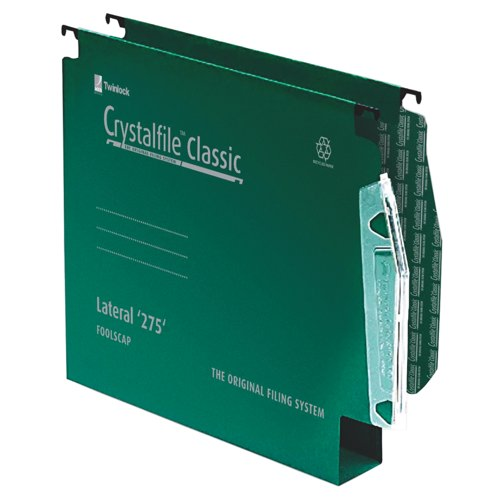 Rexel Crystalfile 50mm Lateral Grn 71762 Pk50