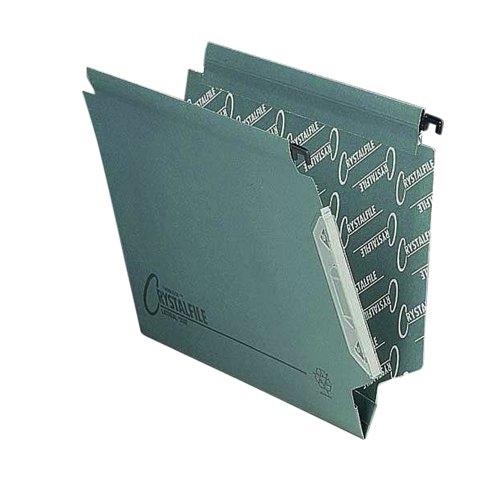 Rexel Crystalfile Lateral 330 Grn 70670 Pk50
