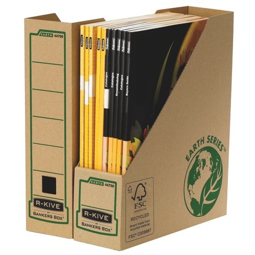 Fellowes R-Kive Earth Series Magazine File 80mm FSC Recycled 100% BV-COC-008800 Ref 4470001