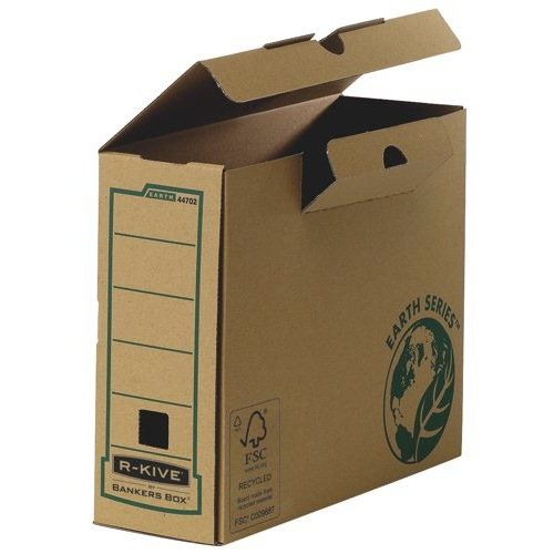 Fellowes R-Kive Earth Transfer File FSC Recycled 100% Tab-Seal Lid 100x255x315mm A4 Ref 4470201