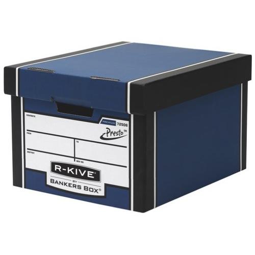 Fellowes R-Kive Premium 725 Classic Storage Box Inside 330x381x254mm Blue White Ref 7250601