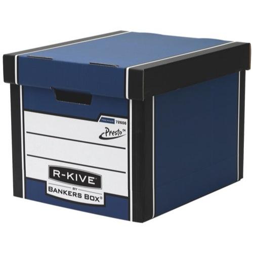 Fellowes R-Kive Premium Archive Storage Box 330x381x298mm Blue/White Ref 7260601