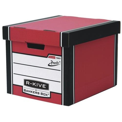 Fellowes R-Kive Premium Archive Storage Box 330x381x298mm Red/White Ref 7260701