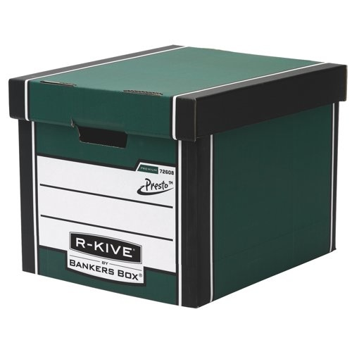 Fellowes R-Kive Premium Storage Boxes With Lid Green/White Ref 7260801
