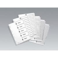 Avery Numeric Index Multipunched 1-50 A4 White FSC Mix 70% BV-COC-008800 Ref 05226061 Set