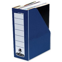 Fellowes R-Kive Premium Magazine File Fastfold Internal 102x229x298mm Blue/White Ref 0722904