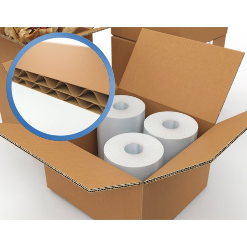 Packing Carton Double Wall Corrugated 457x457x457mm Packed 15 Ref 59190