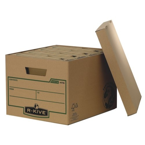 Fellowes R-Kive Earth Series Storage Box Brown FSC Recycled 100% BV-COC-008800 Ref 4470601