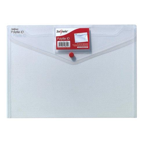 Snopake Polyfile Id A4 Clear 12560 Pack 5