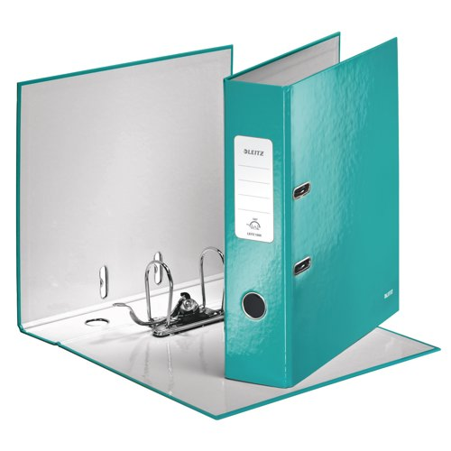 Leitz WOW Lever Arch File A4 80mm Ice Blue Pk10 10050051