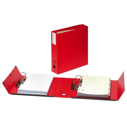 Arianex Double Lever Arch File A4 Fixed Mechanism 80mm Capacity Red Ref DA4R Each