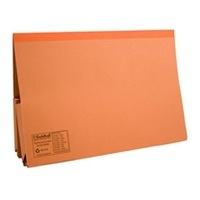 Guildhall Legal Wallet Double Pocket Foolscap 315gsm Manilla Orange Code 214-ORG