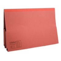 Guildhall Legal Wallet Double Pocket Foolscap 315gsm Manilla Red Code 214-RED