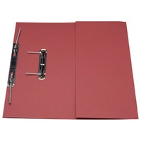 Guildhall Transfer Spring Files With Pocket Foolscap 38mm Capacity 315gsm Manilla Red Code 349-REDZ