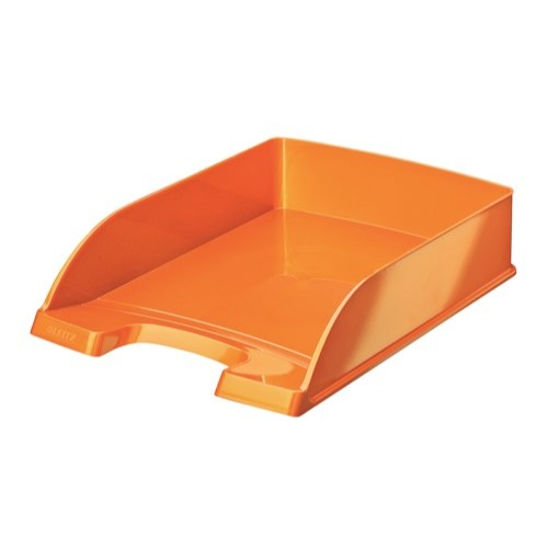 Leitz Plus WOW Letter Tray Stackable Glossy W245xD380xH70mm Metallic Orange Ref 52263044 Each