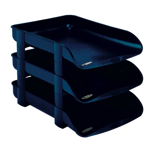 Rexel Agenda2 Letter Tray 55mm Depth 286x401x60mm Blue Ref 2101017 Each
