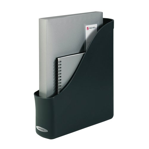 Rexel Agenda2 Magazine Rack File 78x288x305mm Charcoal Ref 2101022 Each