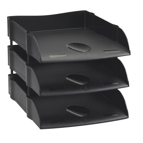 Avery DTR Eco Range Letter Tray Self Stacking Black Ref DR100BLK