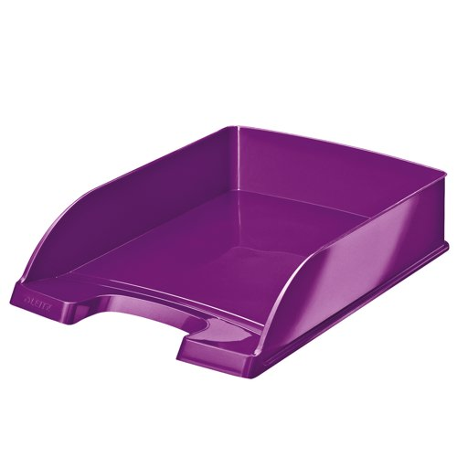 Leitz WOW Letter Tray A4 Purple Ref 52263062