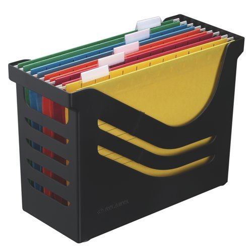 Jalema Suspension File Box With 5 Files Black Ref A658026998 Each