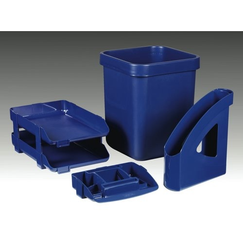 Rexel Agenda 55 Letter Tray 55mm Deep Blue Ref 25207 Each