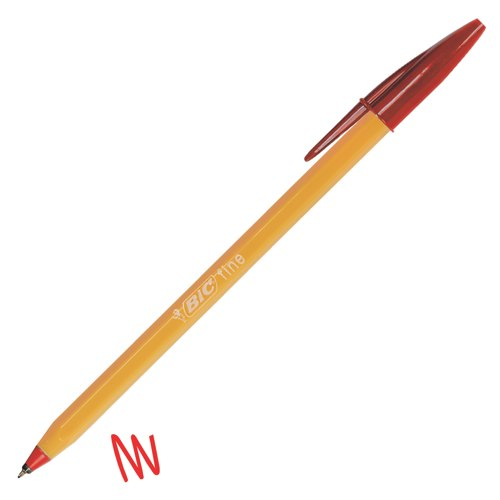 Bic Orange Ball Pen Red NF Environment Accredited Ref 1199110112