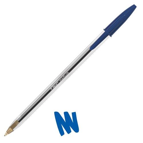 Bic Cristal Blue Medium Ballpoint Pens Pack of 50