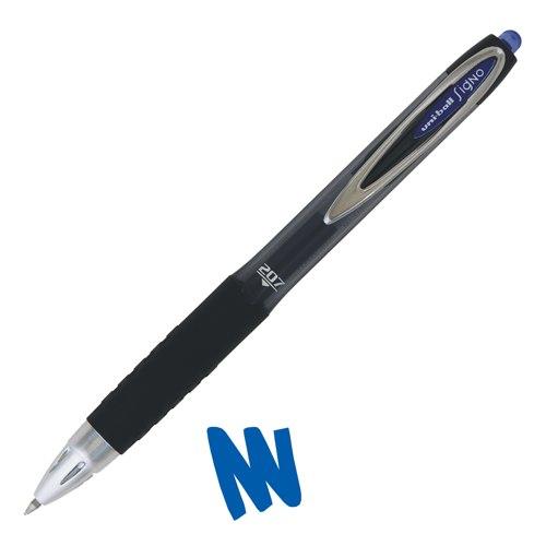 Uni-Ball UMN-207 Signo Gel Rollerball Pen Retractable Blue Ref 762641000