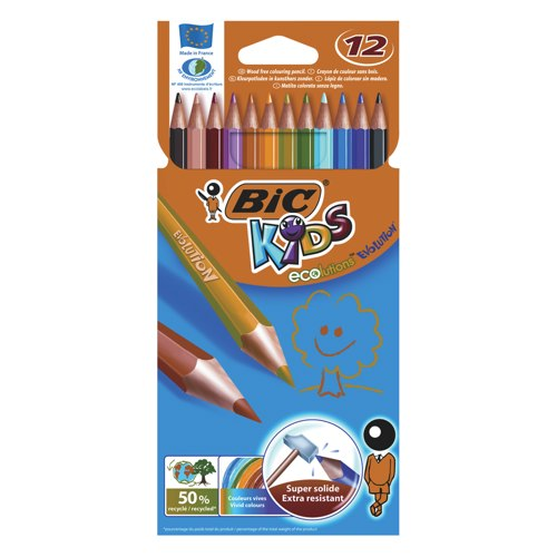 Bic Kids Evolution Colouring Pencils Assorted Colours Ref 829029