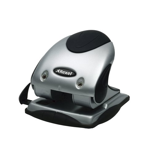 Rexel P240 2 Hole Punch Silver/Black Ref 2100748 Each