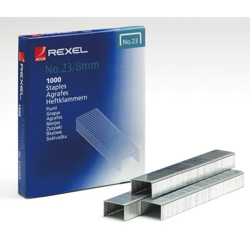 Rexel Heavy Duty Staples No.23/8mm Pack 1000 Ref 2101054