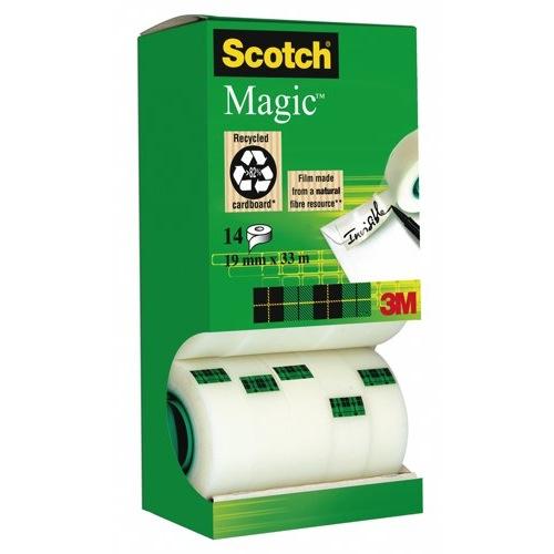 Scotch Magic Tape 12 rolls and 2 Free Rolls 19mmx33m Ref 81933R14 Pack 12
